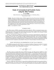 ∑ Study of Astronomical and Geodetic Series using the ... - Springer