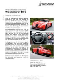 Wiesmann Modelle Wiesmann GT  MF5 - Unfall-Service GmbH
