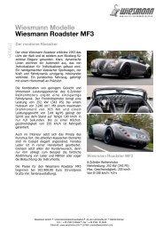 Wiesmann Modelle Wiesmann Roadster MF3 - Unfall-Service GmbH