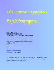 The Tibetan Typefaces SAMPLES FOR THE TIBETAN FONTS ...