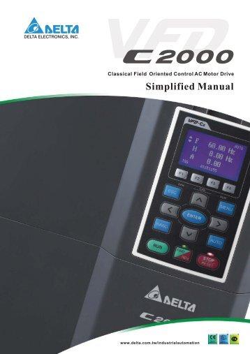 Delta VFD-C2000 simplified manual