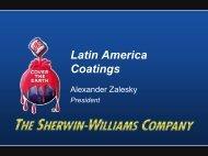 Latin America Snapshot - Sherwin Williams