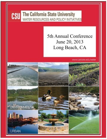 5th Annual Conference June 20, 2013 Long Beach, CA