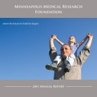 2007 Annual Report - The Minneapolis Medical Research Foundation