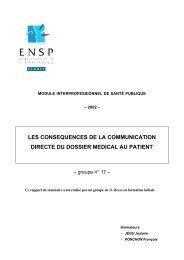les consequences de la communication directe du dossier medical ...