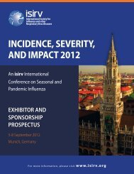 INCIDENCE, SEVERITY, AND IMPACT 2012 - One Health Initiative