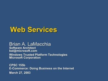 Web Services - Zoo