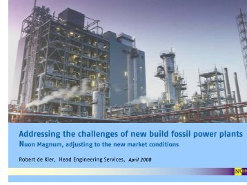 Addressing the challenges of new build fossil power plants Nuon