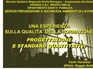 progettazione e standard quantitativi - Azienda USL di Reggio Emilia