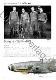 """Der """"Satan"""" von Lt. Walter Köhne, 6./JG 11"""