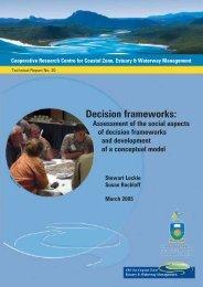 Decision frameworks: - OzCoasts