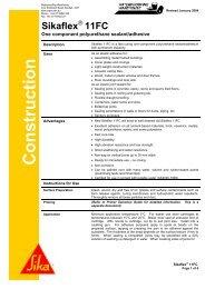 Sikaflex 11FC data sheet - North West Sealants