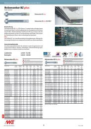 Bolzenanker BZ plus - MKT Metall-Kunststoff-Technik GmbH & Co. KG
