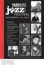 NOVEMBER 4-10, 2007 - Yardbird Suite