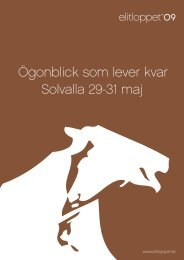 ¯gonblick som lever kvar Solvalla 29 31 maj