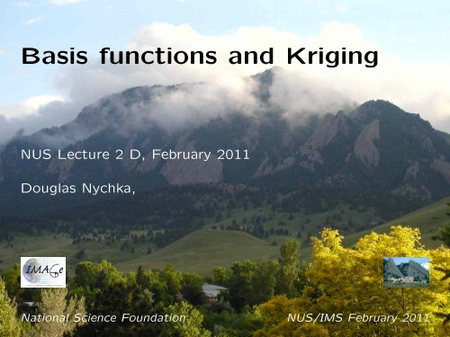 Basis functions and Kriging - IMAGe