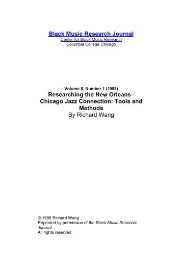 8.1 Researching the New Orleans.pdf - Jazz Studies Online