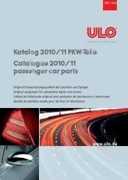 Katalog 2010/ 11 PKW-Teile Catalogue 2010/ 11 ... - ULO de