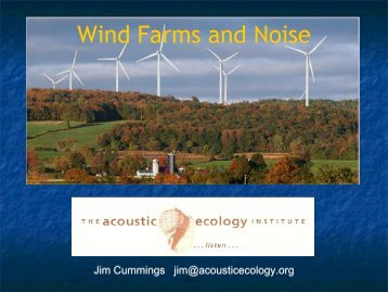 Wind Farms and Noise - New Mexico Citizens Alliance for ...