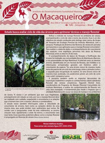 O Macaqueiro - Instituto de Desenvolvimento Sustentável Mamirauá