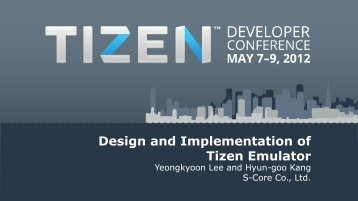 Design and Implementation of Tizen Emulator