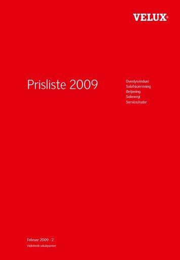 Prisliste 2009 - Velux