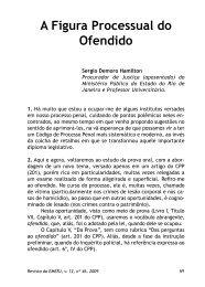 A Figura Processual do Ofendido - Emerj