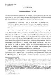 Biologia e nomenclatura in Plinio - Annali Online Unife