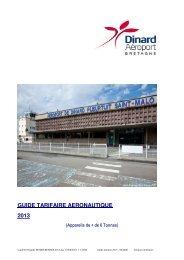 Redevances aéronautiques - Aéroport Dinard