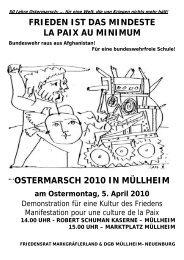 50 Jahre Ostermarsch: … für eine Welt, die von Kriegen nichts mehr ...