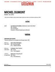 MICHEL DUMONT - Agence Goodwin