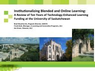 Ins0tu0onalizing Blended and Online Learning: - cohere