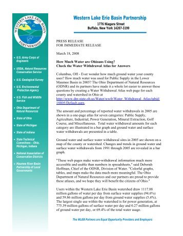 Ohio Water Atlas - Western Lake Erie Basin Partnership