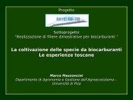 le esperienze toscane - M. Mazzoncini