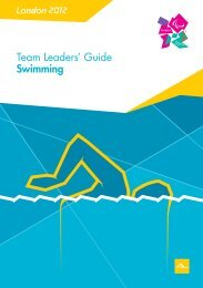 London 2012 Team Leaders' Guide Swimming
