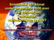 Solaktivitet och klimat under de senaste 1 000 åren ... - Skolverket