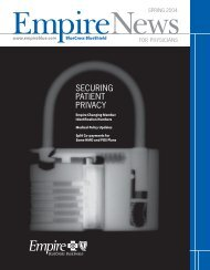 Empire News - Spring 2004 - Empire Blue Cross Blue Shield