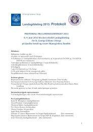 Landsgildeting 2013: Protokoll - St. Georgs Gildene i Norge