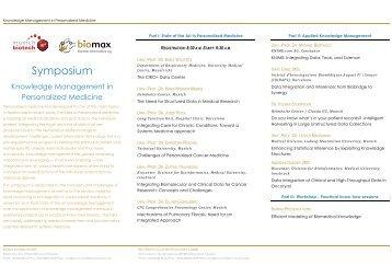 Flyer Symposium (PDF) - Biomax Informatics AG
