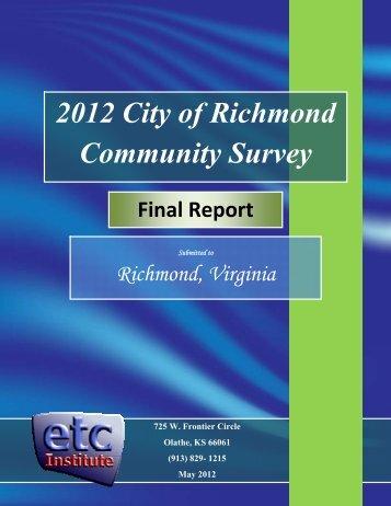 2012 City of Richmond Community Survey - Style Weekly