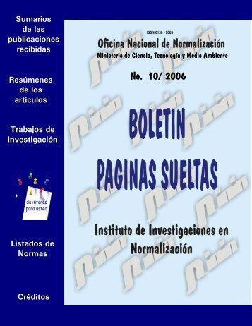 No. 10/ 2006 - Boletín Páginas Sueltas