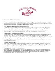 Still Middle School 6th Grade FAQ - Cowlishaw Elementary School