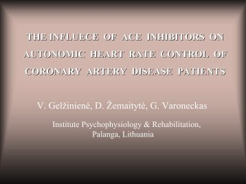 Impact from medication by ACEI