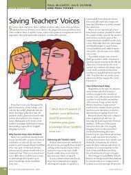 Saving Teachers' Voices - National Association of Elementary ...
