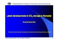 Latest developments in Latest developments in CO storage in ...