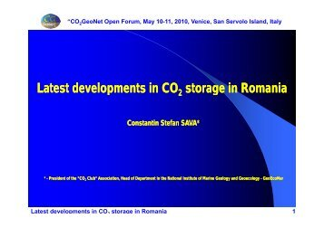 Latest developments in Latest developments in CO storage in ...