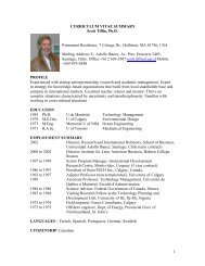 1 CURRICULUM VITAE SUMMARY Scott Tiffin, Ph.D. Permanent ...