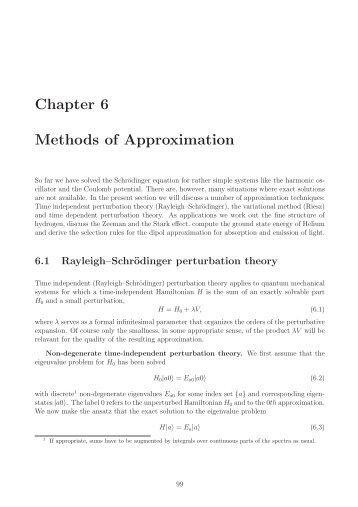 Chapter 6 Methods of Approximation - Particle Physics Group