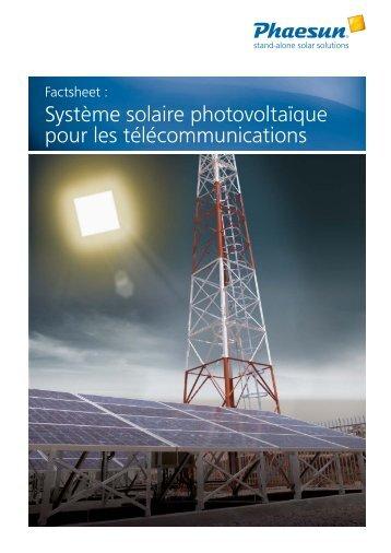 Système solaire photovoltaïque pour les ... - Phaesun
