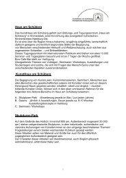 Einzelheiten zum Bewerbungsverfahren - Haus am Schüberg